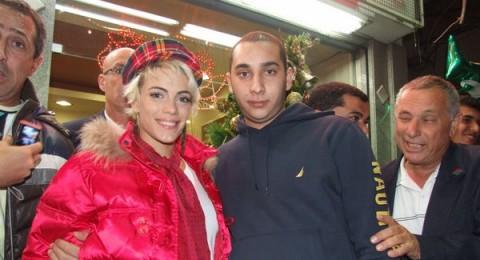 الممثلة الأرجنتينية الشهيرة إميليا أطياس في الناصرة